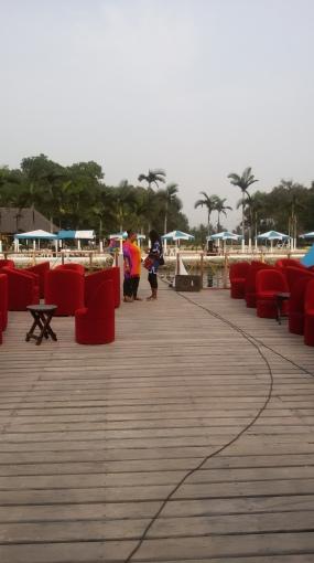 Strand bar à Songon plage